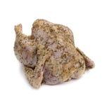 Rå höna med kryddor. Royaltyfria Foton