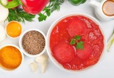 Rå ingredienser för att laga mat läcker och sund mat Arkivbild