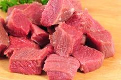 rå isolerad meat royaltyfri bild
