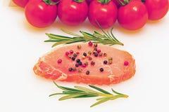 Rå kotlett av griskött Arkivbilder