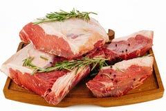 rå kryddor för meat Arkivbilder