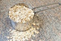 rå mätande oats för kopp Royaltyfria Bilder
