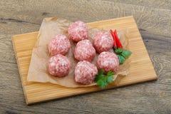 rå meatball Royaltyfri Foto
