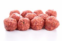 Rå meatball Arkivbild