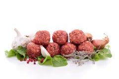 Rå meatball Royaltyfri Bild