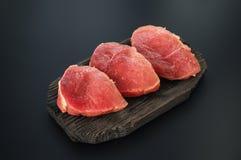 rå meatpork Arkivbilder
