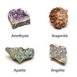 Rå mineraler Arkivbilder