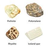 Rå mineraler Fotografering för Bildbyråer