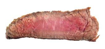 Rå nötköttbiff, ett stycke av kött som isoleras på vit bakgrund Royaltyfri Bild