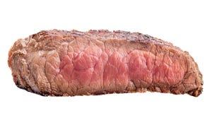 Rå nötköttbiff, ett stycke av kött som isoleras på vit bakgrund Royaltyfria Foton