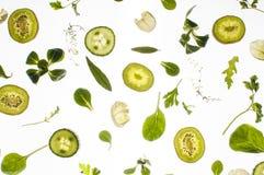 Rå nya ingredienser på vit bakgrund Royaltyfria Bilder