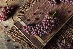 Rå organisk tabell Champagne Grapes Fotografering för Bildbyråer