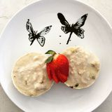 Rå ostkaka för strikt vegetarianpassionfrukt Royaltyfri Fotografi