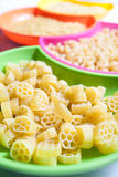 rå pasta Royaltyfri Fotografi