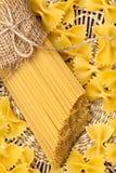 rå pasta Royaltyfri Foto
