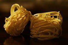 rå pasta Arkivfoto