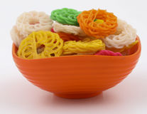 rå pasta Arkivbilder