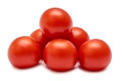 rå röd tomat bakgrund isolerad white Royaltyfri Fotografi