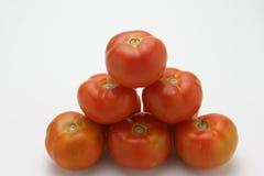 Rå röda tomater Fotografering för Bildbyråer