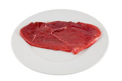 rå schnitzel för nötkött Royaltyfri Bild
