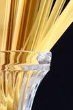 rå serving för pasta Arkivfoto