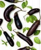 Rå små aubergine Arkivbild