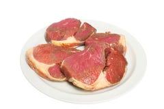rå steak Arkivfoto