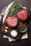 rå steak för filé Arkivfoto