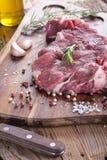 rå steak för meat Royaltyfria Bilder