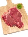 rå steak t för ben Royaltyfria Bilder