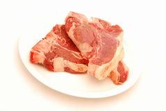 rå steaks Royaltyfria Foton