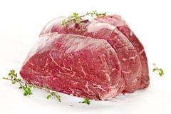 rå stek för nötkött Royaltyfri Fotografi