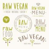 Rå strikt vegetarianemblem Royaltyfri Bild