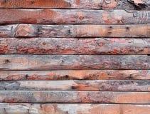 Rå wood panelbakgrund, grov timmeryttersida Fotografering för Bildbyråer