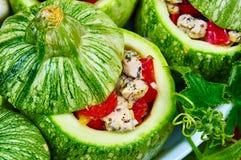 Rå zucchinier med stoppning Royaltyfria Bilder