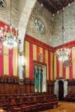 Råd av hundra i stadshus av Barcelona Royaltyfria Bilder