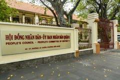 Råd för folk` s i Ho Chi Minh, Vietnam Arkivfoton