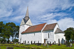 Råde church (south-east) Stock Photos