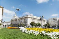 Rådet av ministrar som bygger i centrala Sofia Royaltyfri Bild