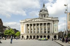 Rådhus, gammal marknadsfyrkant, Nottingham royaltyfria bilder