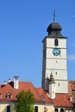 Rådtorn (turnulsfatuluien), Sibiu Royaltyfria Bilder