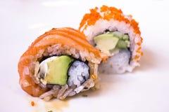 Råkost som är klar att äta sushi Royaltyfria Bilder