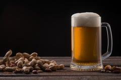 Råna av öl och jordnötter arkivbild