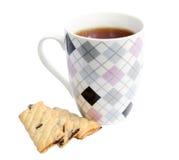 Råna av te med kakor Royaltyfri Fotografi