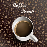 Råna kaffebakgrund Royaltyfri Fotografi