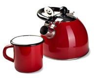 råna teapoten Arkivbild