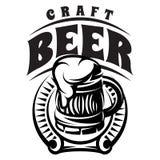 Rånar skummar det monokromma emblemet för vektorn med inskriften med öl och Royaltyfri Fotografi
