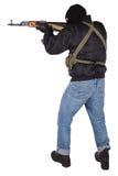 Rånare med AK 47 Royaltyfria Bilder