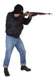 Rånare med geväret M14 Royaltyfri Foto