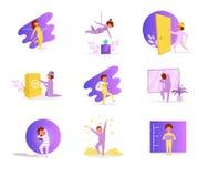 rånarear vektor cartoon Isolerad Violet för konstlägenhettecken royaltyfri illustrationer